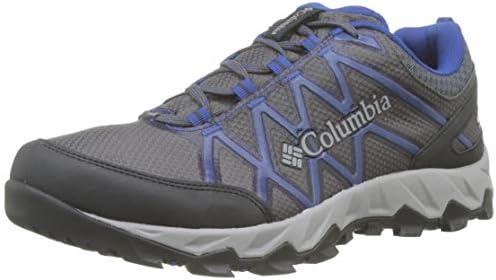 Columbia Peakfreak X2 Mid Outdry, Zapatos de Senderismo Hombre, Gris (Shark, Royal 011), 40.5 EU