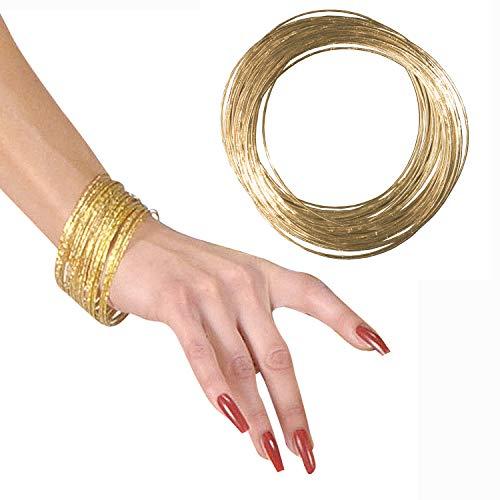 Amakando Universal Joya Multiusos para Dama - Dorado - Brazalete Dorado 40 para Disfraz de Mujer Griega, Romana o Disfraz de Diosa - Incomparable para Fiestas temáticas y Fiestas de Disfraces