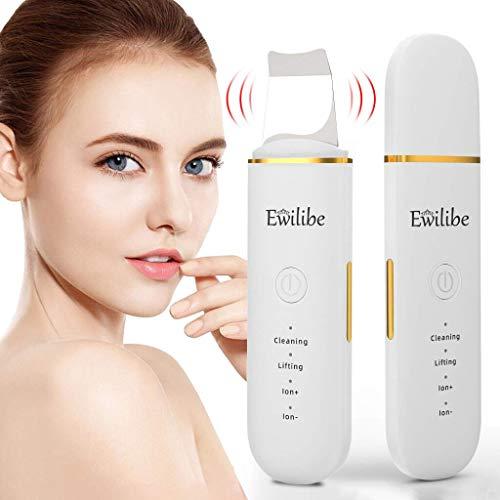 Ewilibe Ultraschallpeelinggerät Mitesserentferner Skin Scrubber Porenreiniger Gesicht Peeling Lifting Akne Mitesser Entferner Ionen Hautreiniger USB Charge