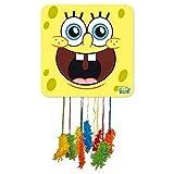 CAPRILO. Piñata Infantile Decorativa para Cumpleaños Bob Esponja  46 X 46 cm. Juguetes y Regalos Fiestas de Cumpleaños, Bodas, Bautizos y Comuniones.