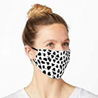 OCTAVARIUM 2 Ply Washable Printed Snow Leopard Pattern Face Mask (Pack Of 2)