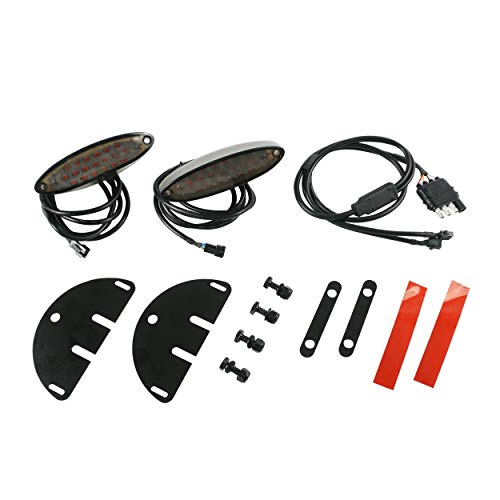 Lets Go Aero Universal 4-Flat Red LED Light Kit for Trailers, Cargo Hitch Carriers & Bicycle Racks, RED Color, Includes Mounting Hardware