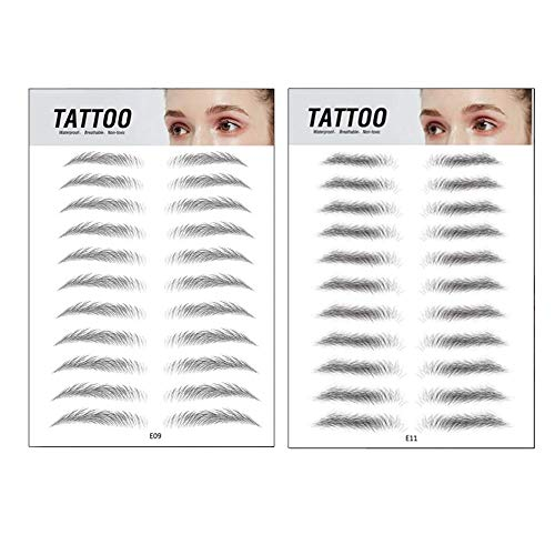 Top Beauty 2Pcs 4D Authentic Eyebrows Like Hair, Natural Tattoo Eyebrow Stickers, Waterproof Long Lasting Brow Shaper Makeup Eyebrow Transfers For Women Men-Set 2