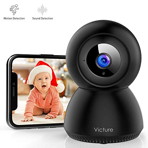 Victure 1080P FHD WiFi Camera with Motion Tracking Sound Detection Wireless 2.4 G WiFi Security Indoor Camera with 2-Way Audio, Night Vision, Home Camera for Baby/Pet/Elder