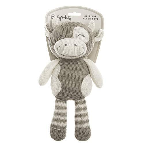 BABY HUG Hug Me 3831118800117 Strickplüsch, Kleine Kuh langbeinig 31cm, Beige, Natural