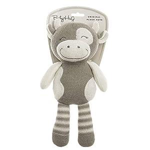 BABY HUG-Hug Me 3831118800117-Peluche de Vaca pequeña (31 cm), Color Beige Natural (YANCHENG SHANTONG Toy CO,LTD. 800117)