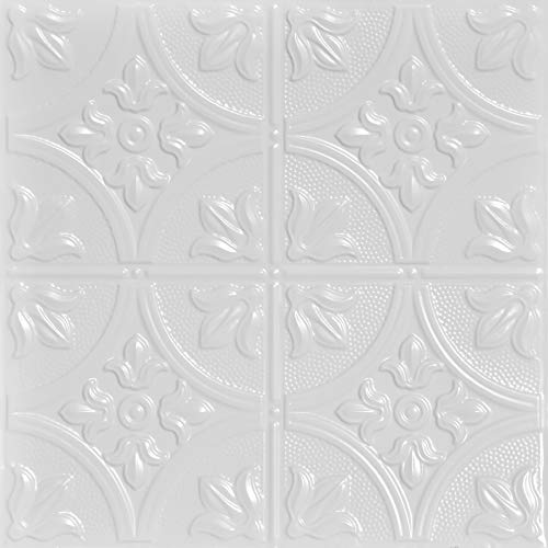 Shanko SK209-laq-24X24-D-12 Tiny Tiptoe Stamped Metal Ceiling Tile Silver