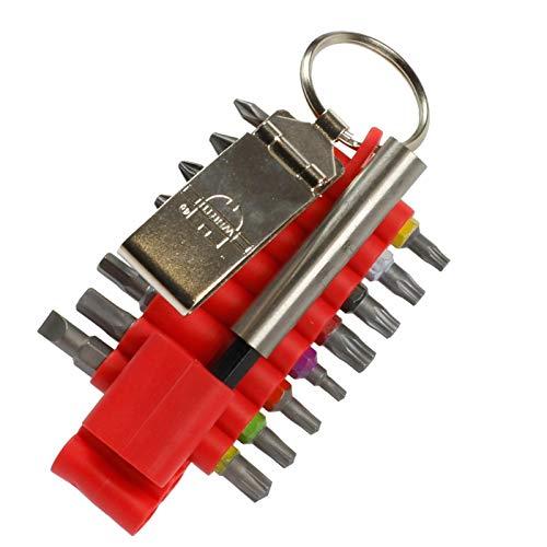 Würth Set puntas Bits Set de puntas Bitsset 17 ltg 16 Bits + Soporte brocas con Abrazadera de Cinturón