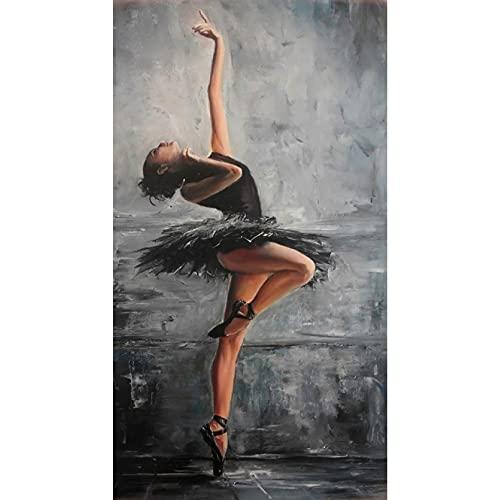 DXSERCV Lienzo Pinturas Sala Pinturas Pintura Botellas Arte de la Pared Abstracto Dormitorio Figura Arte Ballet Bailarín Elegante Decoración del Hogar Sin Marco