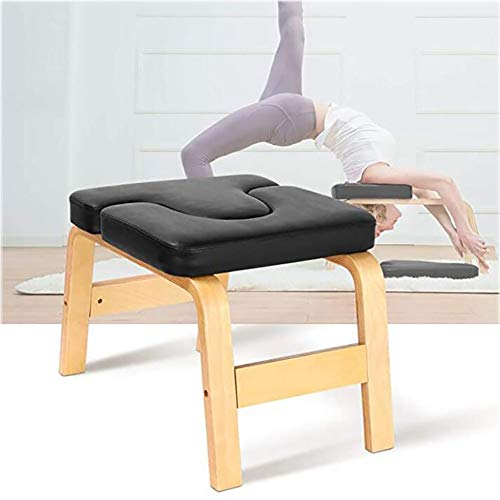 Learn More About LISI Yoga Headstand Bench, Yoga Inversion Chair Birch Stool Yoga Exercise Practice ...