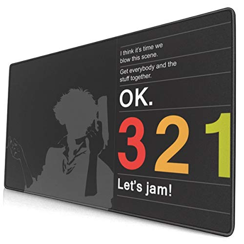 Cowboy Bebop 15.8x29.5 in Large Gaming Mouse Pad Desk Mat Long Non-Slip Rubber Stitched Edges