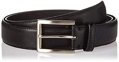 Florsheim Men's Sinclair 33MM Dress Casual Leather Belt, black, 38
