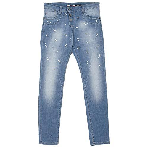 Please, P78A, Damen Jeans Hose, Stretchdenim, lightblue Pearl, XS [21752]