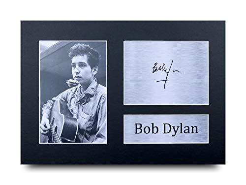 HWC Trading Bob Dylan A4 Ungerahmt Signiert Gedruckt Autogramme Bild Druck-Fotoanzeige Geschenk Für Musik-Fans