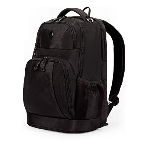 SWISSGEAR Large Padded 15-inch Laptop Backpack | Work, School, Commute | Men's and Women's - Black