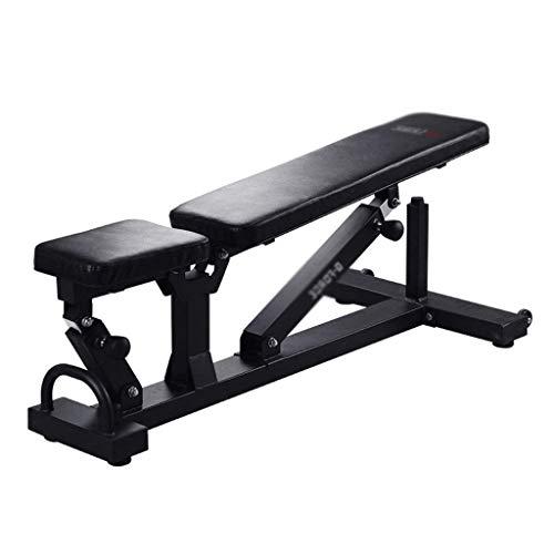 WJSW Gym Hantel Bank Heimfitnessstuhl Kommerzielle Hantelbank Sit-Up Board Multifunktionale Übung Bauchmuskeltraining Bank, Lager 300 KG (Farbe: Schwarz, Größe: 130 * 57 * 44 cm)