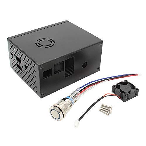 Elektronisches Zubehör RPi X820 V3.0 SSD & HDD SATA Storage Boar d passendes Metallgehäuse + Power Control Switch + Kühler Fan Kit Elektronisches Zubehör