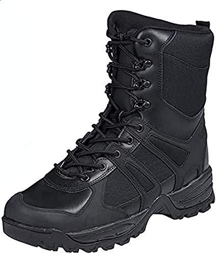 Botas de combate, color negro, hombre, negro, 44 EU / 11 US