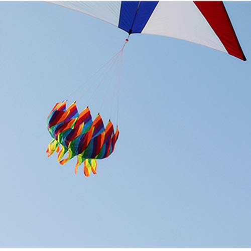 ZFLL CometaNuevo Kite Tail Windsock Spiral Kite Adult Outdoor Sports Deportes Rainbow Kite Tail Stunt Kite Lotus Colgante Resistente a la Rotura Plegable, Multicolor