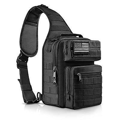 CVLIFE Tactical Sling Bag Pack Military Rover Shoulder Sling Backpack Molle Range Bag EDC Small Day Pack with Padding Pocket