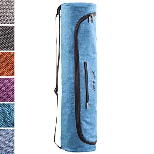 KeenFlex Yogatasche - Tasche für Yoga Matte - Wasserdichtes Gewebe - Komfortabel und Leicht (Türkis)