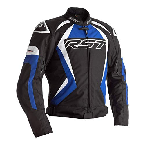 RST Tractech Evo 4 CE Herren Schwarz Blau Textil Motorradjacke EU60