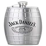 Jack Daniels Barware Swing - Petaca con licencia de Barware, 6 oz, color plateado