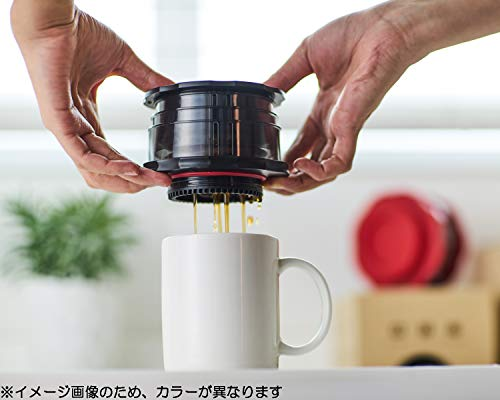 カフラーノCafflanoコーヒーメーカーフレンチプレス収納ケース付ポータブルレッドΦ10.8×12cmコンパクトP100-RD