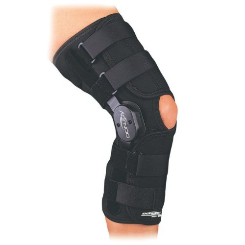 DonJoy Playmaker Drytex Knee Brace (Medium Wraparound Open Back No Patella Donut)
