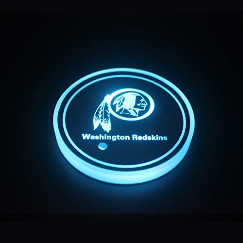 OZ6YA San Fran-cis-co 49ers 2 Stück LED-Getränkehalter Licht LED Car Coaster 7 Farbe beleuchteter Untersetzer USB Ladegerät Untersetzer Zubehör InnendekorationBeleuchtung Innenbeleuchtung Stil 6