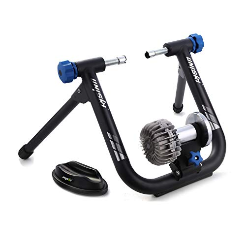 unisky Fluid Bike Trainer Stand Indoor Exercise Bicycle Training Stand Mountain & Road Bike Flywheel Stand with Noise Reduction
