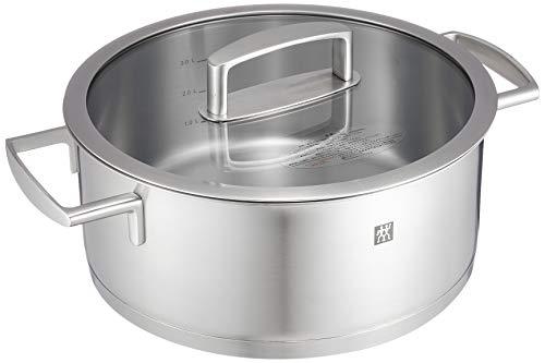 Zwilling ツヴィリング 「 バイタリティ シチューポット 24cm 4.5L 」 ステンレス 両手 鍋 底面3層構造 IH対応 食洗器対応 10年保証 【日本正規販売品 】 66462-240