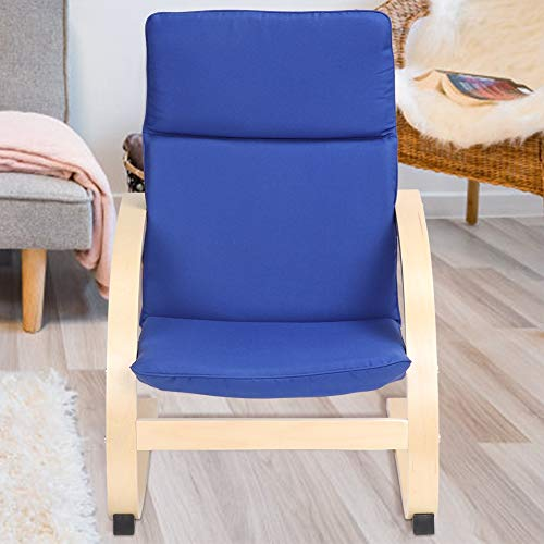 EBTOOLS Recliner Chair,Children Lounge Chair Kids Rocking Chair Armchair Recling Chair Leisure Chair with Detachable Cotton Fabric Cushions for Home Living Room Bedroom Blue,50x63x43.5cm