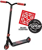 Fuzion Z300 Pro Scooter Complete Trick Scooter -Stunt Scooters for Kids 8 Years and Up, Teens and Adults – Durable, Freestyle Kick Scooter for Boys and Girls (2020 - Black/Red)