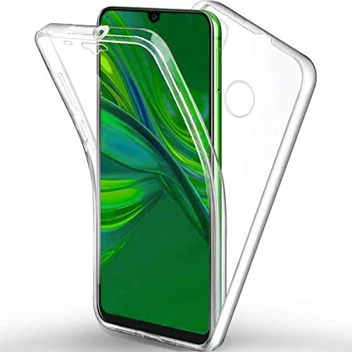 COPHONE - Funda para Huawei P SMART 2019 100% Transparente 360 Grados de protección Completa Delantera Suave + Trasera rígida. Funda táctil 360 Grados antigolpes para Huawei P SMART 2019.