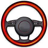Zento Deals Classic Steering Wheel Black Protector Cover with...