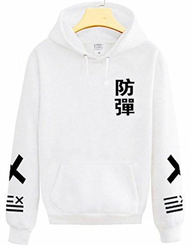 SERAPHY Unisex Kapuzenpullover KPOP Pullover Sweatshirt für Army Suga Jin Jimin Jung Kook J-Hope Rap-Monster V Weiß 3XL