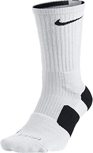 Nike Dri-Fit Elite Basketball Socks (Large, White/Black/(Black))