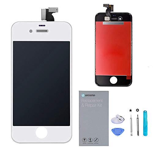 URSEND iPhone 4S LCD Touch Screen Replacement Display Digitizer Assembly Kit White with Repair Tools …