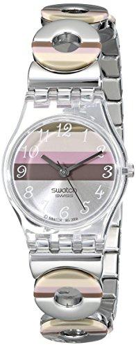 Swatch Reloj Analógico de Cuarzo para Mujer con Correa de Acero Inoxidable – LK 258G