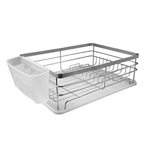 Neat-O Kitchen Dish Drainer PP Utensil Holder Silverware Cup Basket (White)