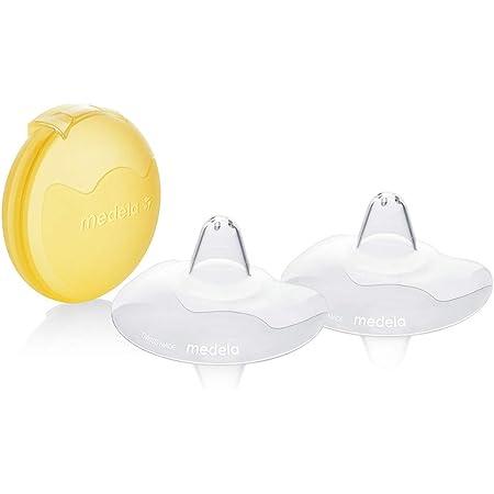 Bouts de sein Medela Contact - Sans BPA, silicone souple ultra-fin, lot de 2, 20mm, taille M