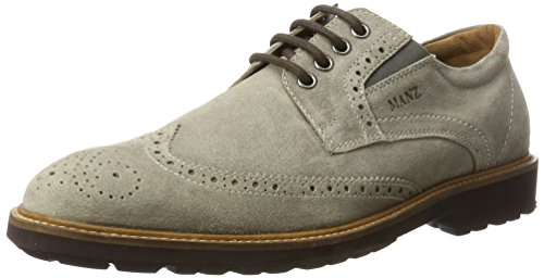 Manz Firenze AGO Puratex Business-Schuhe in Übergrößen Grau 146063-03-023 große Herrenschuhe, Größe:50.5