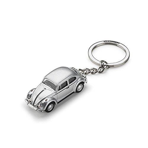 Volkswagen Black Leather Metal Locking Keychain Schlüsselanhänger Logo