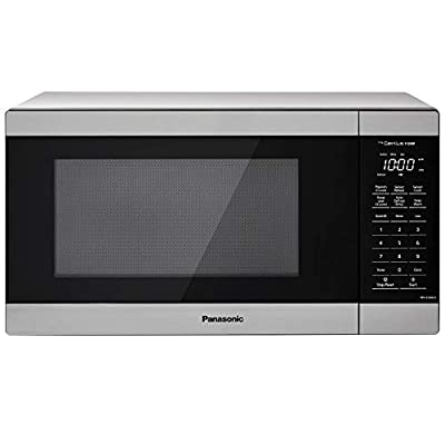 Panasonic NN-SU66LS Countertop Microwave Oven, 1100W with Genius Sensor Cook and Auto Defrost, 1.3 cft, Stainless Steel