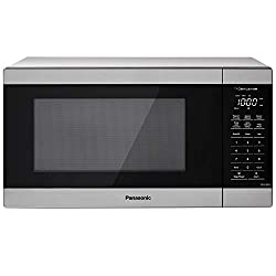 Panasonic NN-SU66LS Countertop Microwave Oven, 1100W with Genius Sensor Cook and Auto Defrost, 1.3 cft, White LED Display