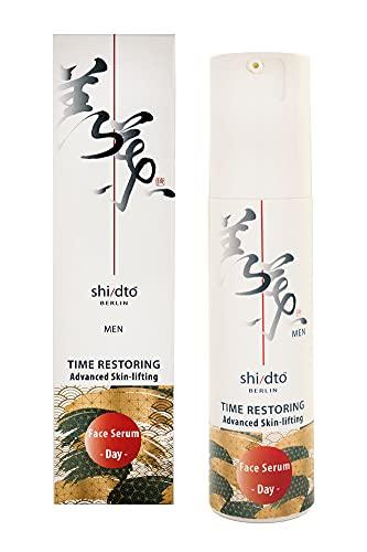 shi/dto   Sérum de jour anti-âge liftant avancé pour homme - avec la technologie S/D Nio-Oxy resvératrol - restaure la ferrmeté et défend la peau contre les agressions quotidiennes - 50 ml