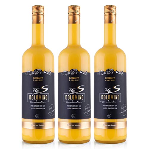 Dolomino - der Bombardino von Dolomiti 16% vol.│ cremiger Eier-Likör mit Rum verfeinert│ 3 x 1 Liter