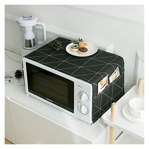 JINAN Housse de protection pour four à micro-ondes avec poche en coton épais et lin (couleur : 7, taille : 30 x 90 cm)