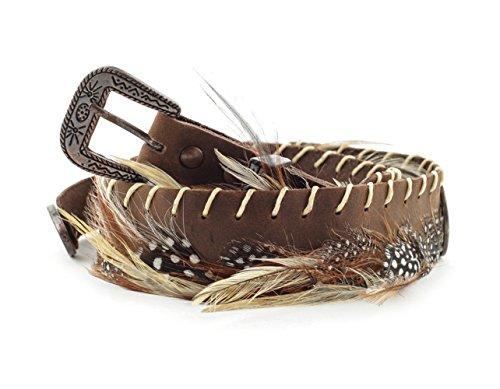 Western-Lederhutband HB-34 Hutband aus Leder für Cowboyhüte & Westernhüte als dekorative Ergänzung Cowboyhut Zubehör und Accessoires Braun